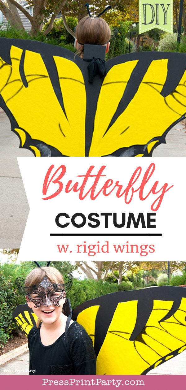 DIY butterfly costume pin - Press Print Party!