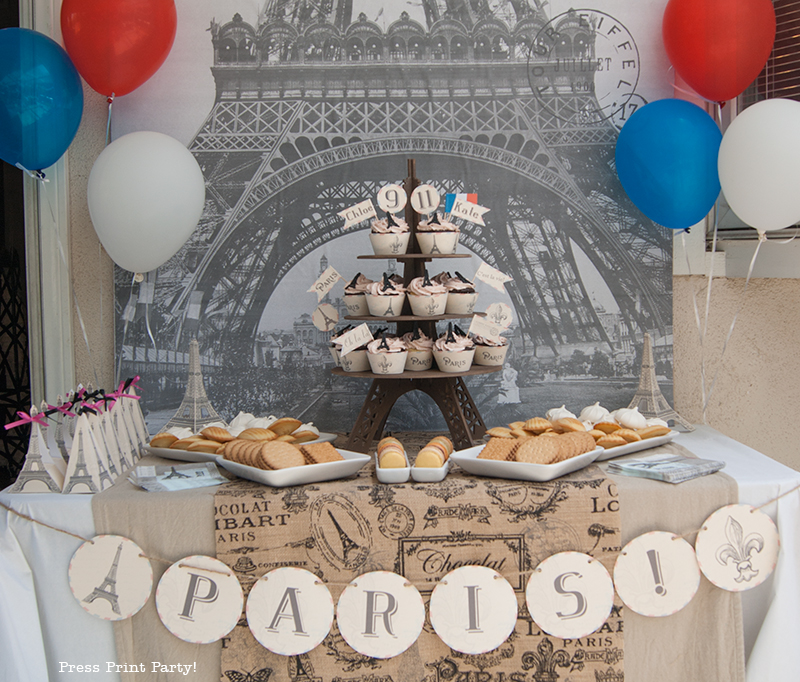 Paris Party with a French Vintage flair - Press Print Party!