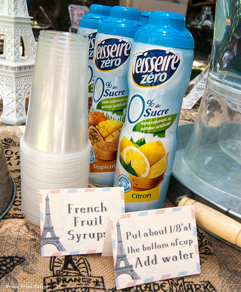 French Syrups - Paris Party with a French Vintage flair - Press Print Party!