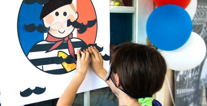 Pin the mustache on the French Guy – Free Printable Game