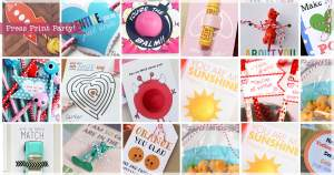 35 Easy No Candy Valentine's Day Free Printables - By Press Print Party!