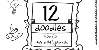 12 Doodles How To for Bullet Journals