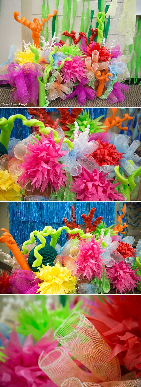 coral reef for under the sea decorations