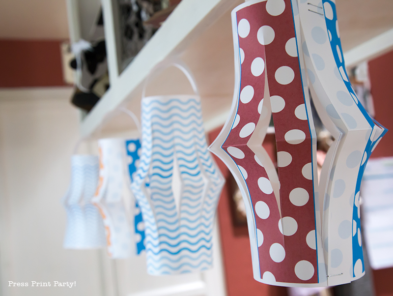Pool Party Beach Ball Birthday Bash - Ideas and decorations by Press Print Party! Party Lanterns