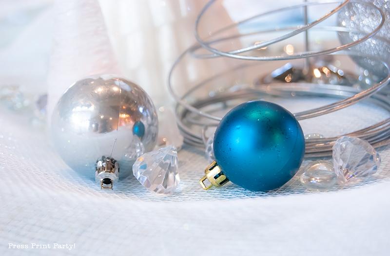 Christmas Winter Wonderland Centerpiece DIY by Press Print Party!