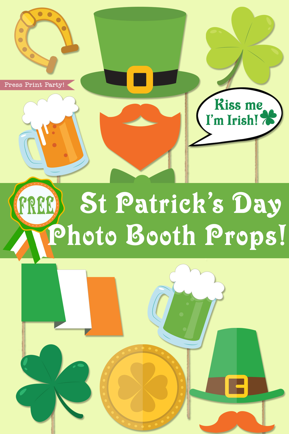 St Patrick S Day Photo Booth Props Free Printable