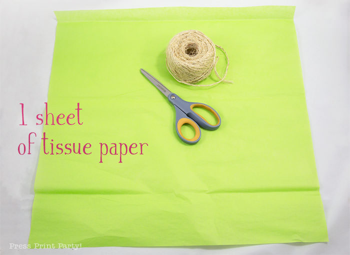 1 sheet of tissue paper - tissue paper garland tutorial Press Print Party!