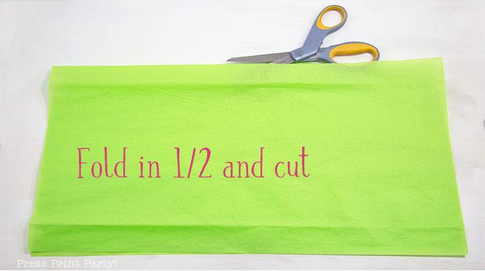 fold in half and cut - tissue paper garland tutorial Press Print Party!