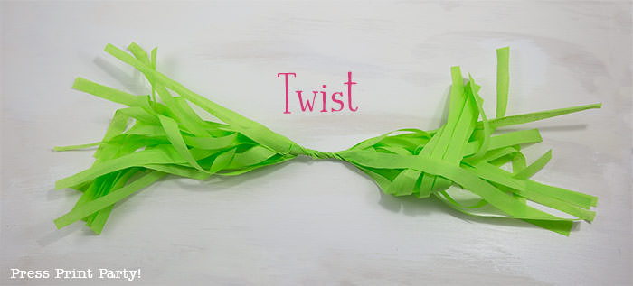 twist- tissue paper garland tutorial Press Print Party!