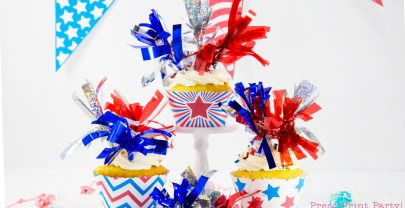 Free Patriotic Cupcake Wrappers
