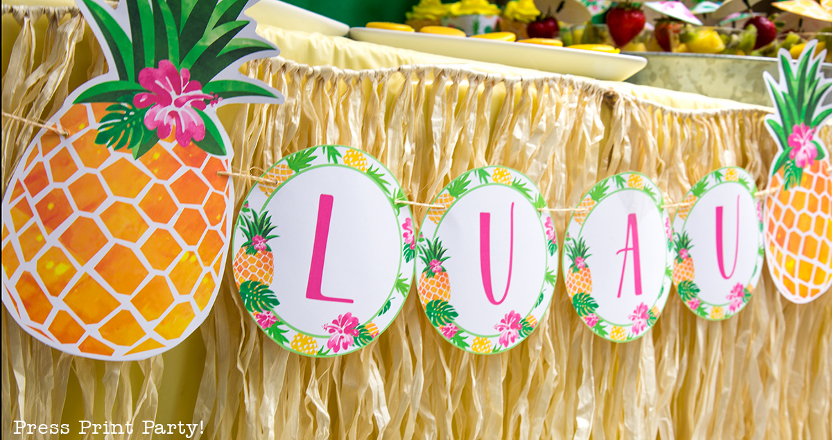"Sweet ""Party Like a Pineapple!"" Birthday Luau - Loads of Fun Ideas"