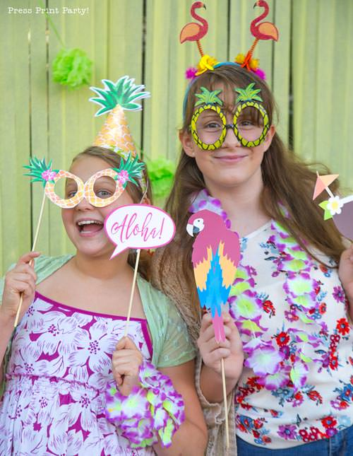 Party like a Pineapple -Pineapple party - Luau Party -luau photo booth props - by Press Print Party!