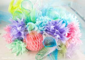 How to make a striking tabletop coral reef for your mermaid or under the sea party - by Press Print Party!