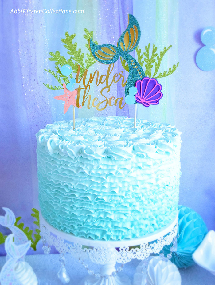 Decorate your Mermaid Party like a Pro! by Press Print Party! Mermaid Theme - Mermaid party ideas -supplies -little mermaid birthday cake