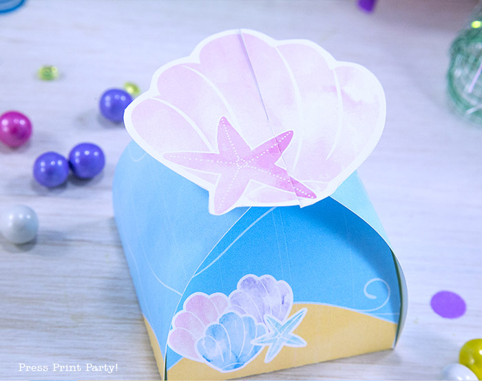 Decorate your Mermaid Party like a Pro! by Press Print Party! Mermaid Themed party - Mermaid party supplies - mermaid favor box