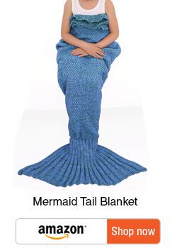 Ultimate gifts for Tweens - Gift guide for tweens - mermaid tail blanket