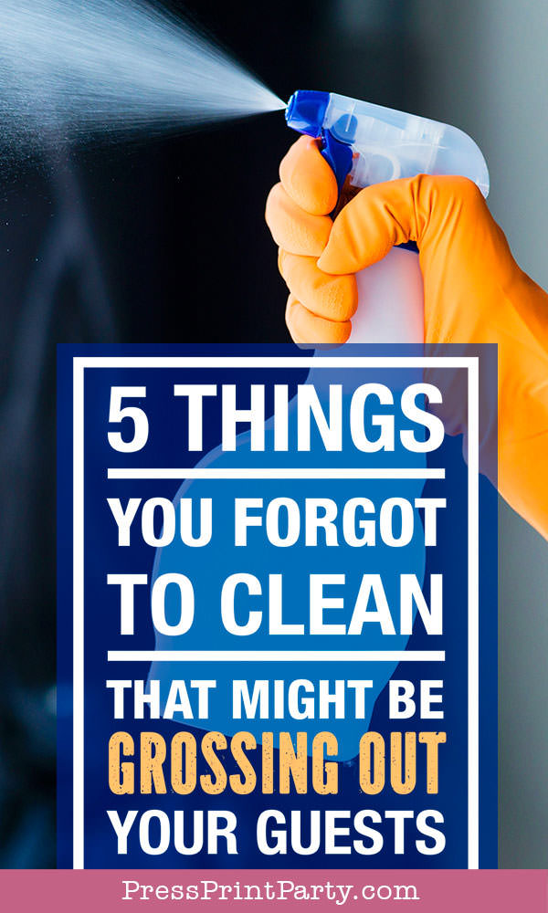 How to clean your house for guests. hand with cleaner