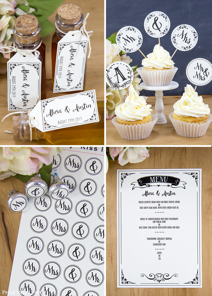 Rustic Wedding Invitations Template, cheap wedding invitations DIY Wedding Invitations- Press Print Party! extras