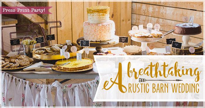 A breathtaking rustic barn wedding - country wedding - Press Print Party!