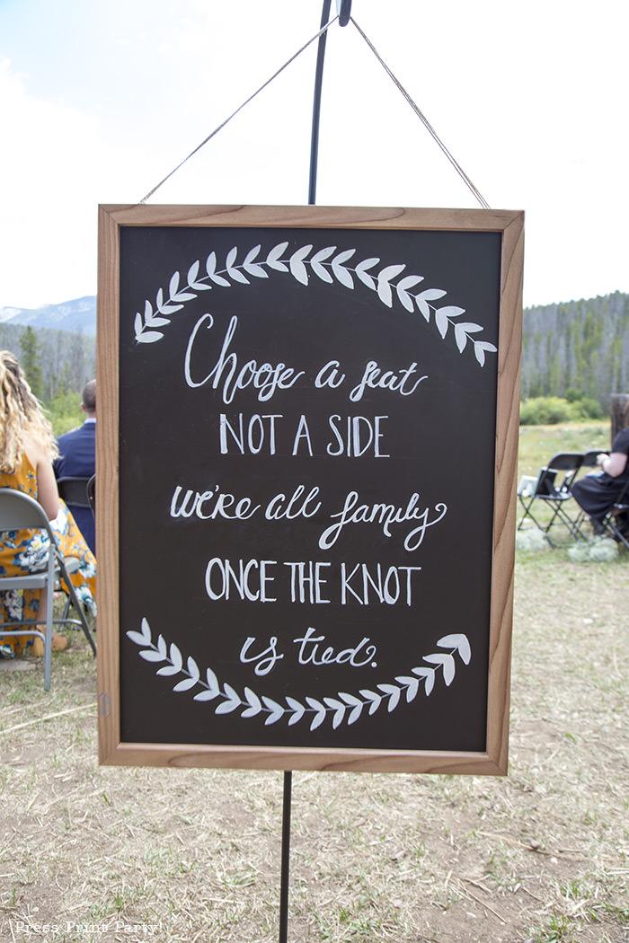 A breathtaking rustic barn wedding - country wedding - Press Print Party! chalkboard sign