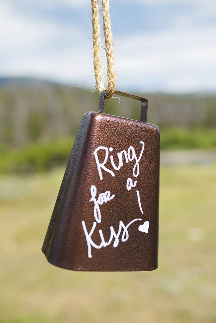 A breathtaking rustic barn wedding - country wedding - Press Print Party! ring for a kiss bell
