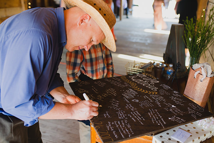 A breathtaking rustic barn wedding - country wedding - Press Print Party! signing table
