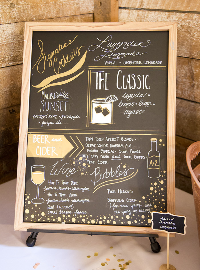 A breathtaking rustic barn wedding - country wedding - Press Print Party! chalkboard signs