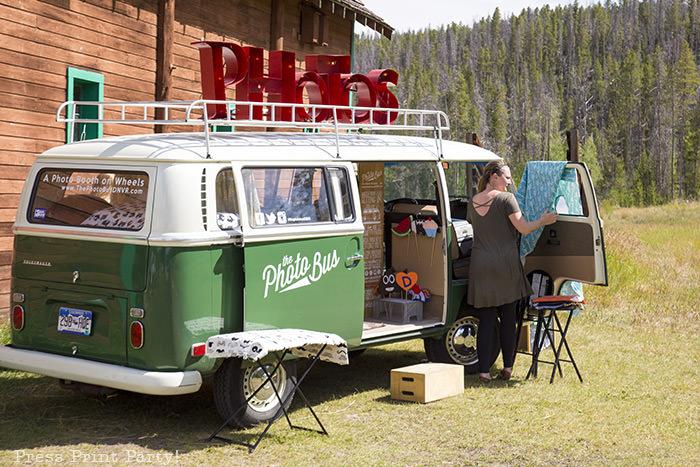 A breathtaking rustic barn wedding - country wedding - Press Print Party! photo bus