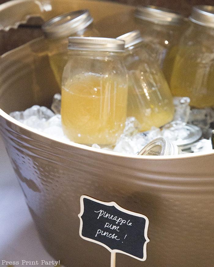 A breathtaking rustic barn wedding - country wedding - Press Print Party! rum punch