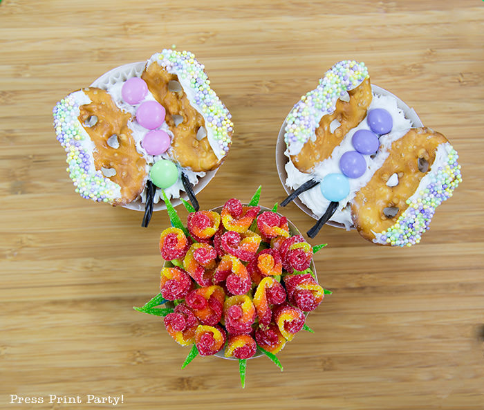 Simple Butterfly Cupcake DIY Decorations, Spring, Easter - Press Print Party!