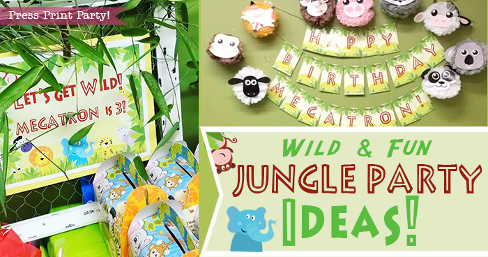 Wild and Fun Jungle Party Ideas collage