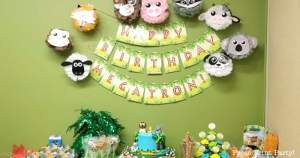 Jungle party Happy Birthday Banner