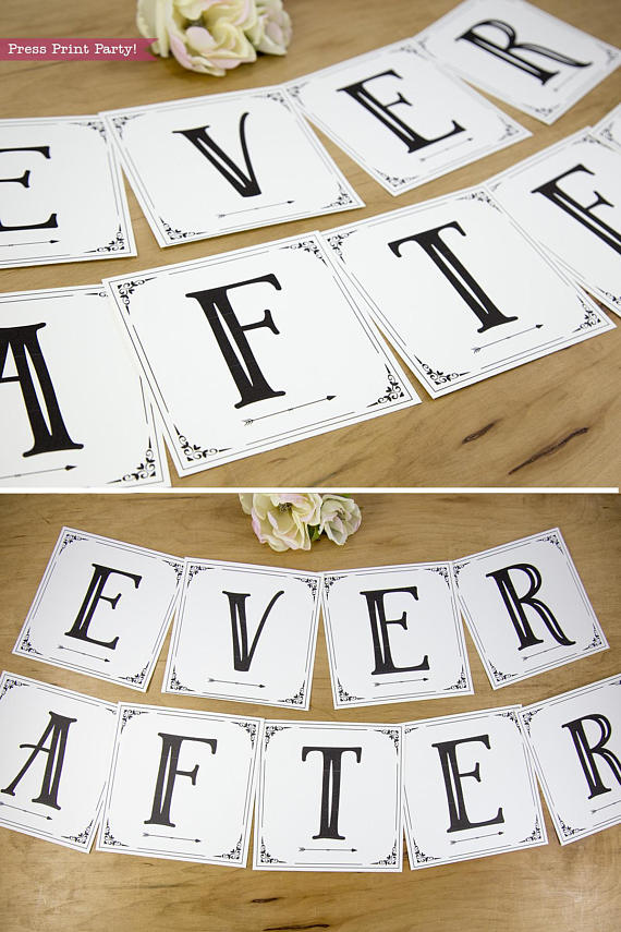 wedding banner ever after. bunting