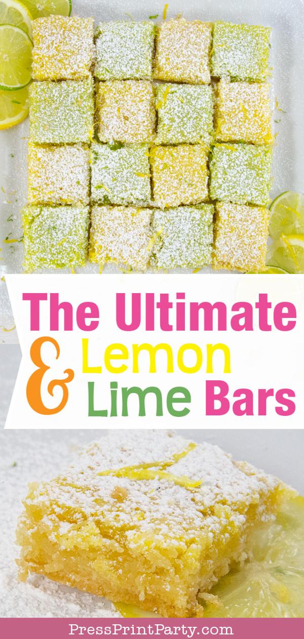 The ultimate lemon and lime bars