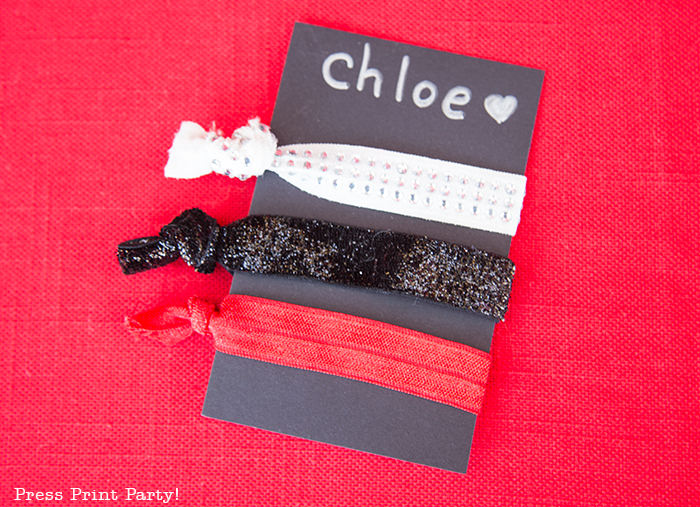 Movie Night favors Hair ties- Press Print Party!