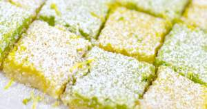 Lemon and lime squares close up