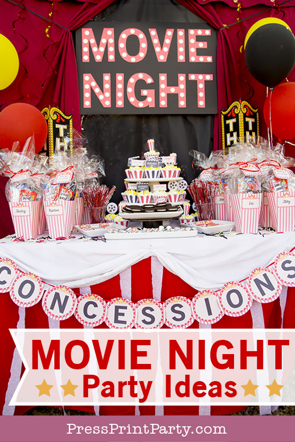 Outdoor Movie Night Party Ideas by Press Print Party!