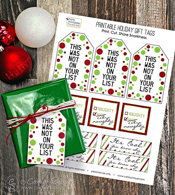 200+ Free printable Christmas gift tags Round Up - Press Print Party!