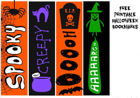 Free Halloween Printables - bookmarks - List by Press Print Party!