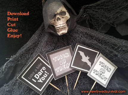 Free Halloween Printables - cupcake toppers - List by Press Print Party!