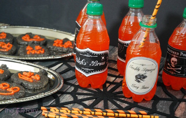 Free Halloween Printables - drink labels - List by Press Print Party!