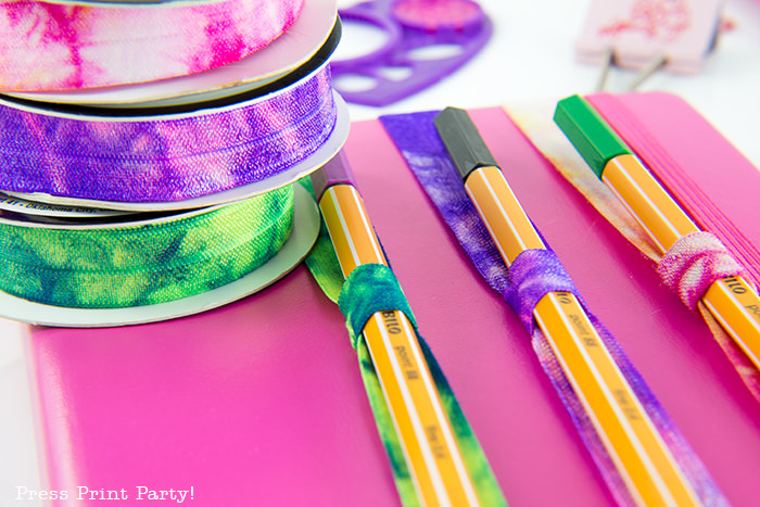 DIY pen and pencil holders for Bullet Journals, notebooks, and planners - Press Print Party!