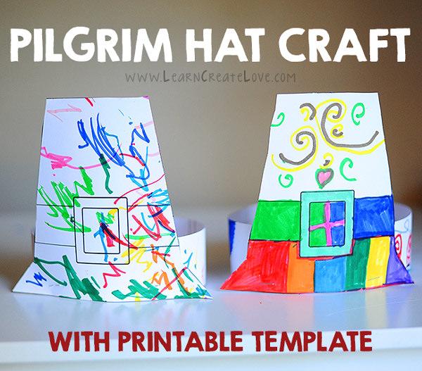 Pilgrim hat craft free printable