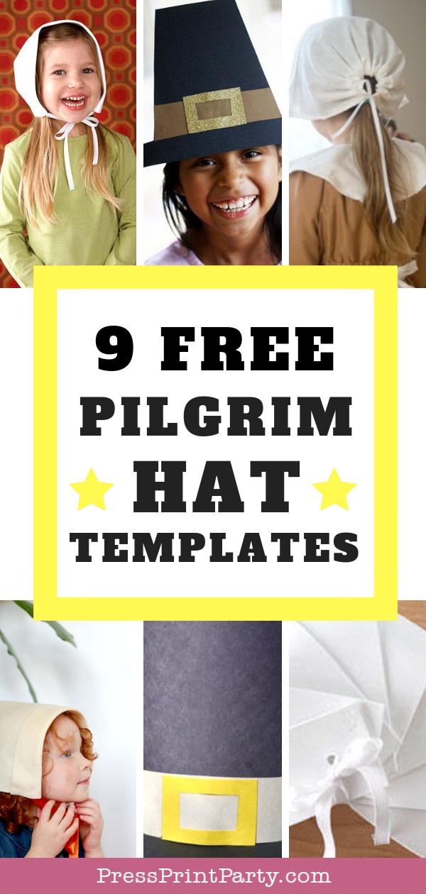 9 Free Pilgrim Hat Template Printables- Press Print Party!