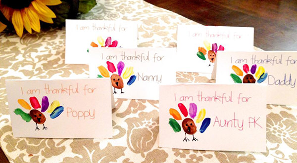 Turkey Thanksgiving place card craft