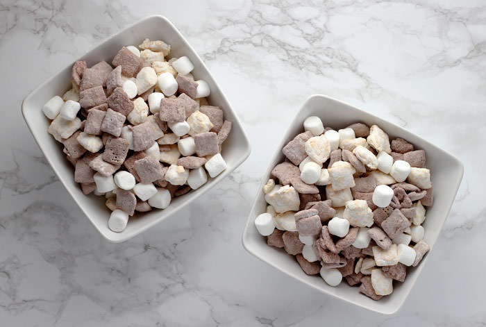hot cocoa muddy buddies sweet chex mix recipes