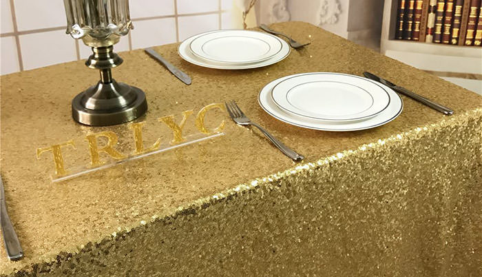 gold foil tablecloth for new years eve party