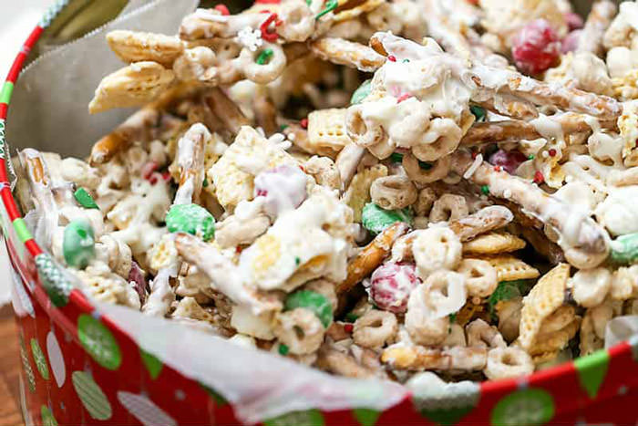 white chocolate sweet chex mix recipe