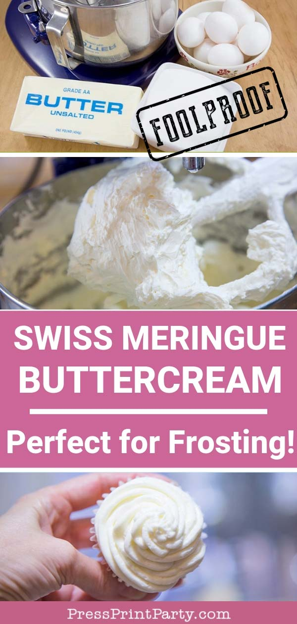 Swiss meringue buttercream frosting recipe- Press Print Party!
