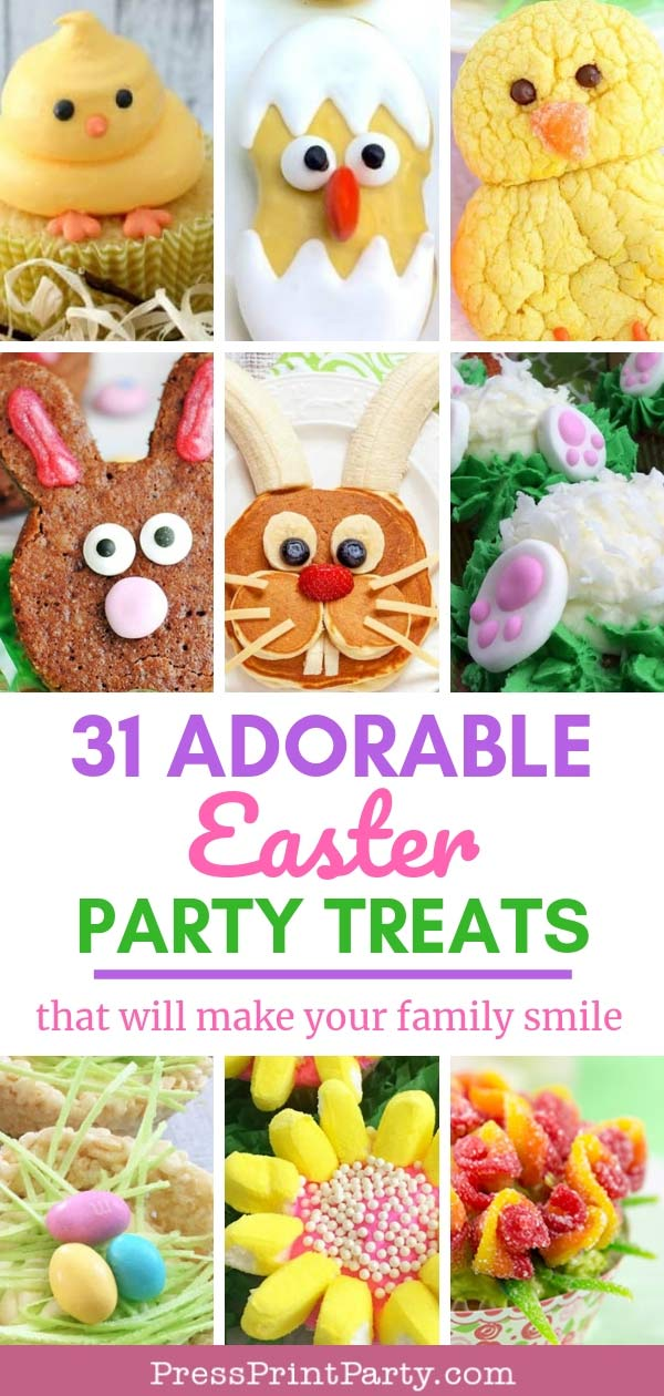 Adorable Easter Treats Ideas- Press Print Party!